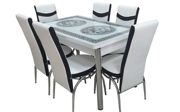 Dining table Versace white